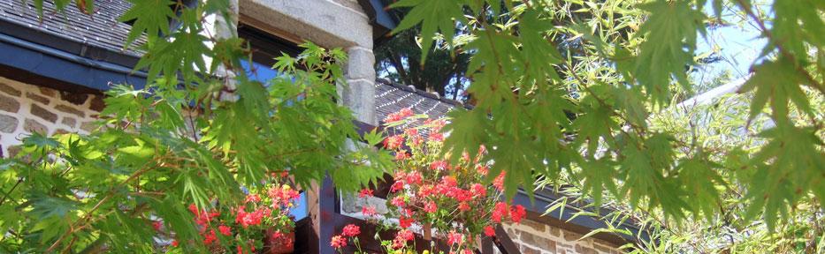 Les Pieds dans l'Herbe – Chambres d'hotes et gîtes – Rosporden – Finistère Bretagne - escalier extérieur