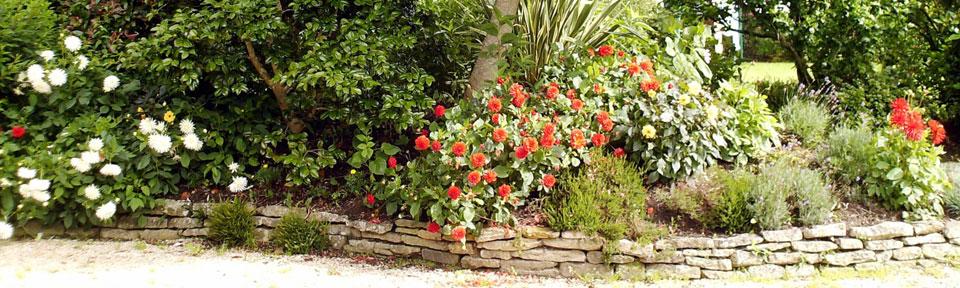 Les Pieds dans l'Herbe – Chambres d'hotes et gîtes – Rosporden – Finistère Bretagne - jardins gîtes