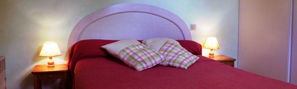 Les Pieds dans l'Herbe – Chambres d'hotes et gîtes – Rosporden – Finistère Bretagne – chambre lit double