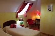 Chambres d'hôtes Les Pieds dans l'Herbe – Rosporden – Finistère Bretagne - chambre lits simples